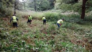 Ogmore Priide team hard at work